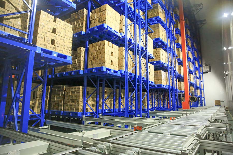Aice freezing warehousing in Surabaya, Indonesia-AS/RS crane system