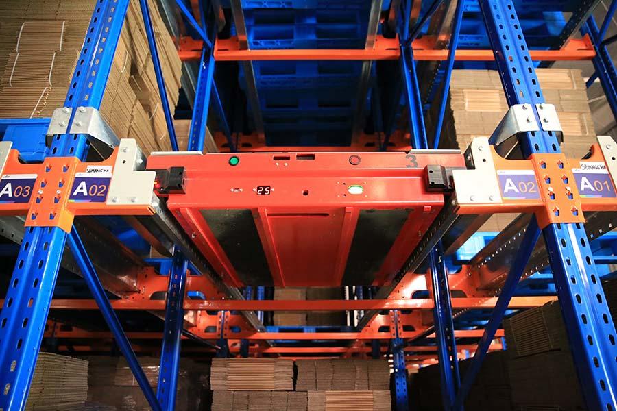 Aice freezing warehousing in Surabaya, Indonesia-Shuttle racking system