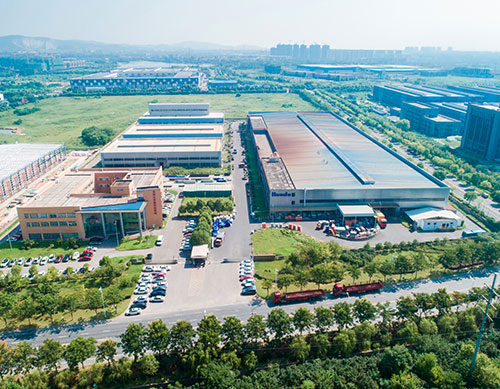 Aerial view of our factory
