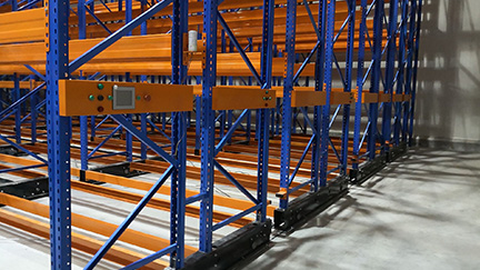 Thai-Food-Mobile Pallet Racking System