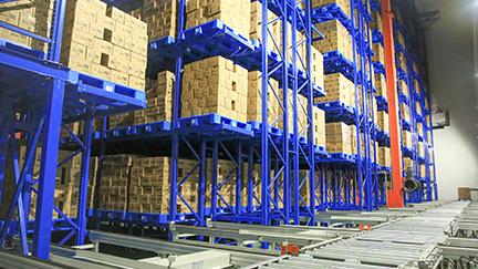 Aice freezing warehousing in Surabaya, Indonesia-AS/RS crane system
